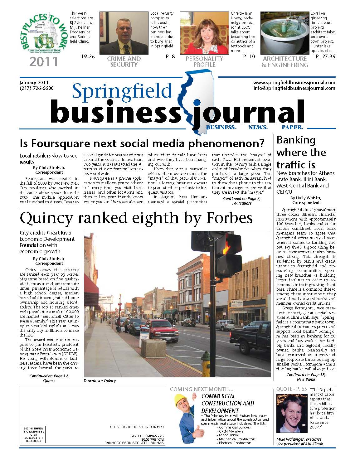 Springfield Business Journal Features Quincy