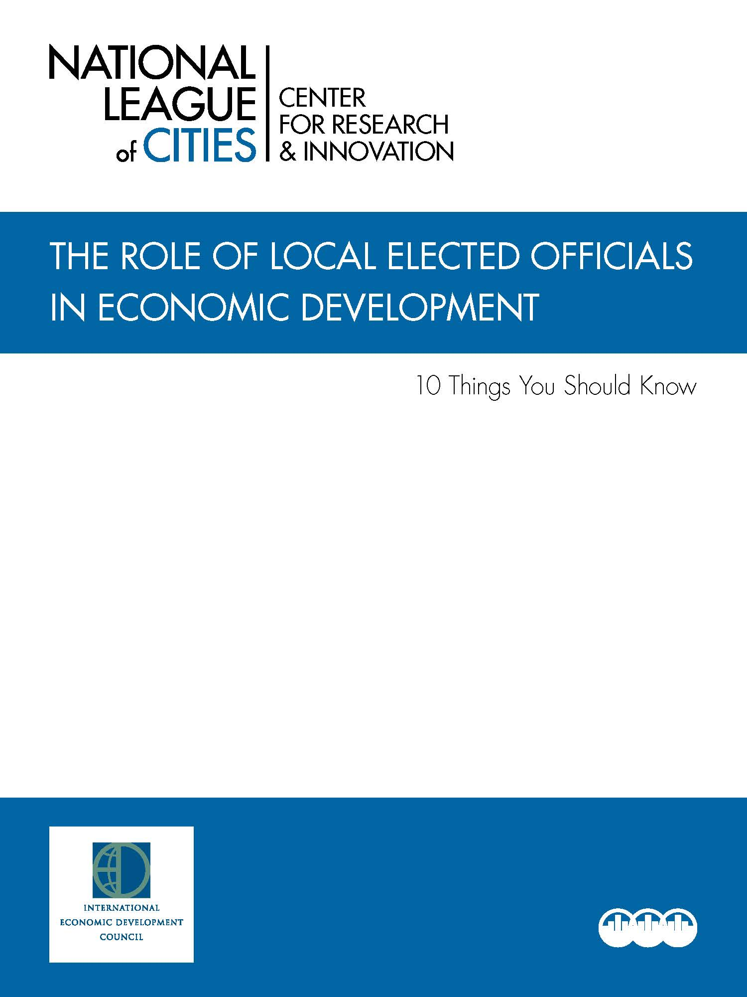 The Role of Local Elected Officials in Economic Development