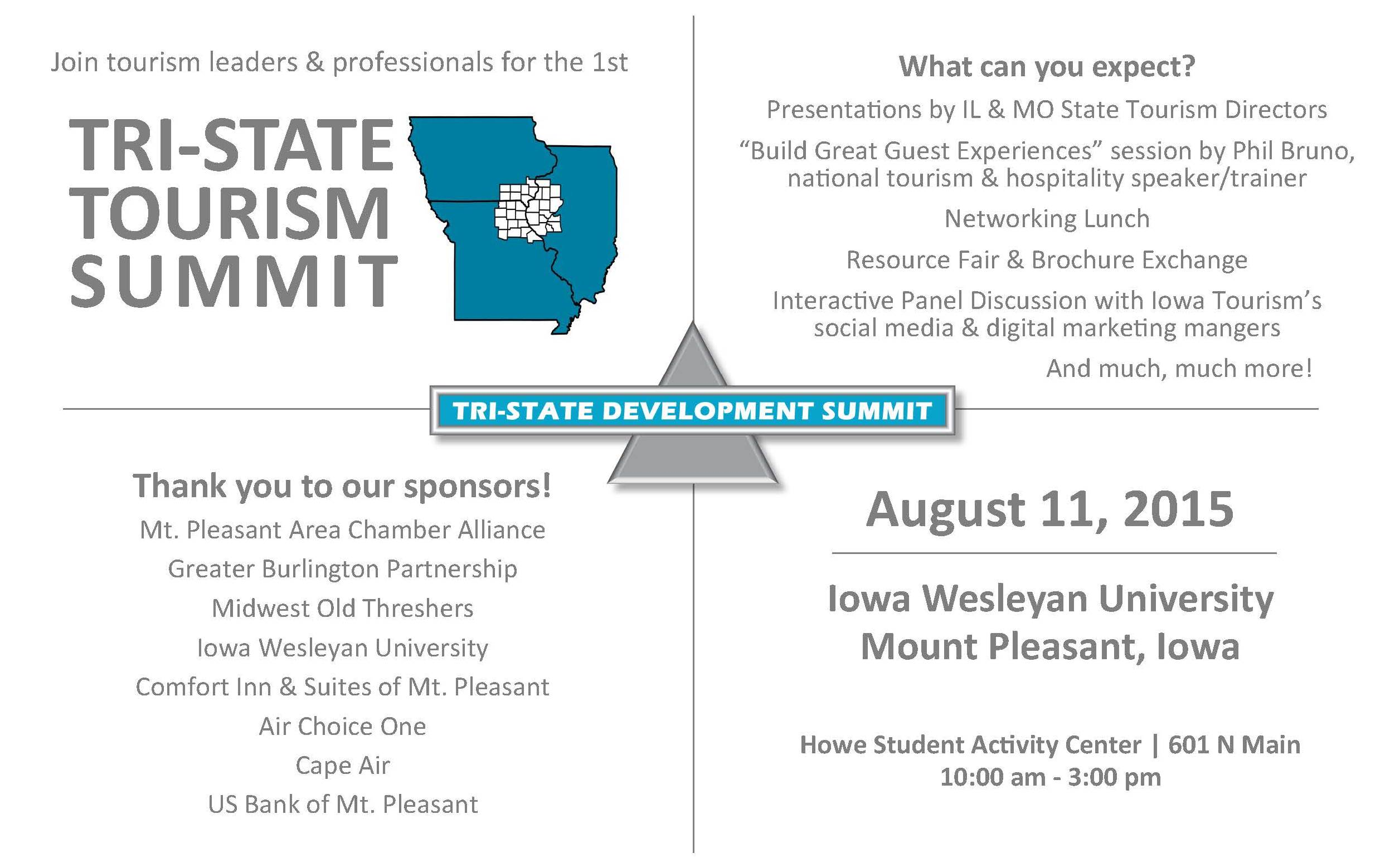 Tri-State Tourism Summit – August 11