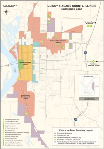 2008 Map of Enterprise Zones in Quincy & Adams County, IL