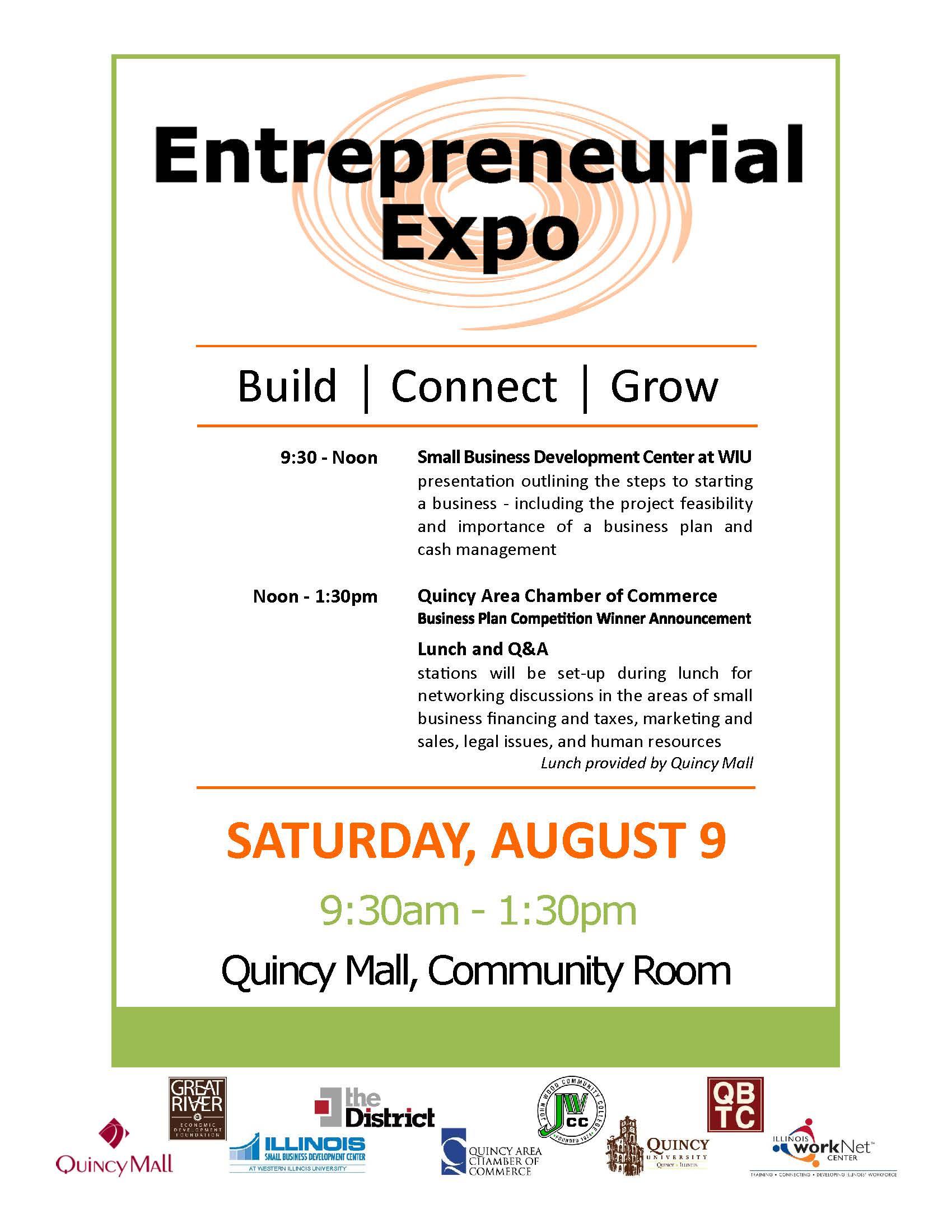 Entrepreneurship Expo – August 9