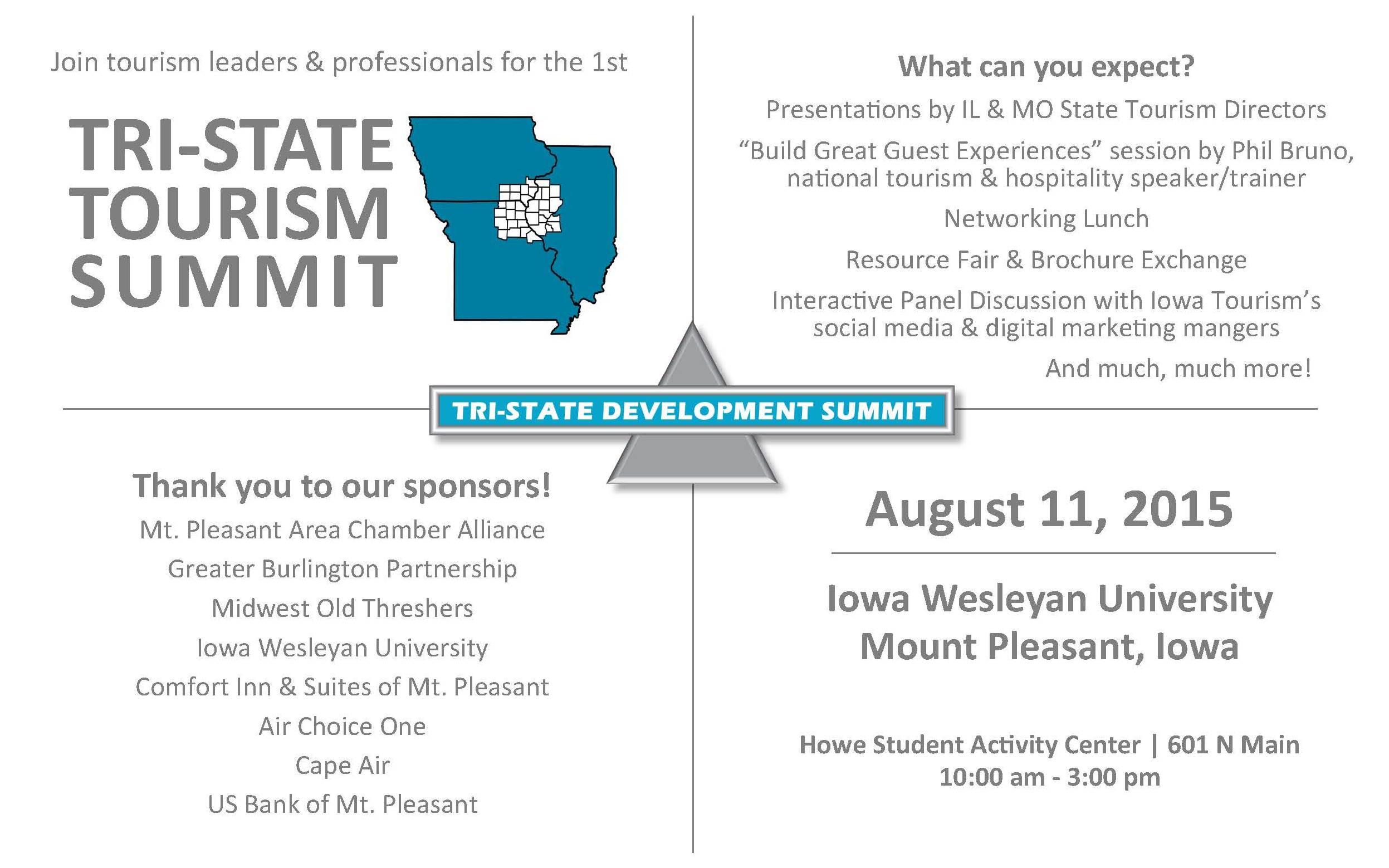 Tri-State Tourism Summit – August 11