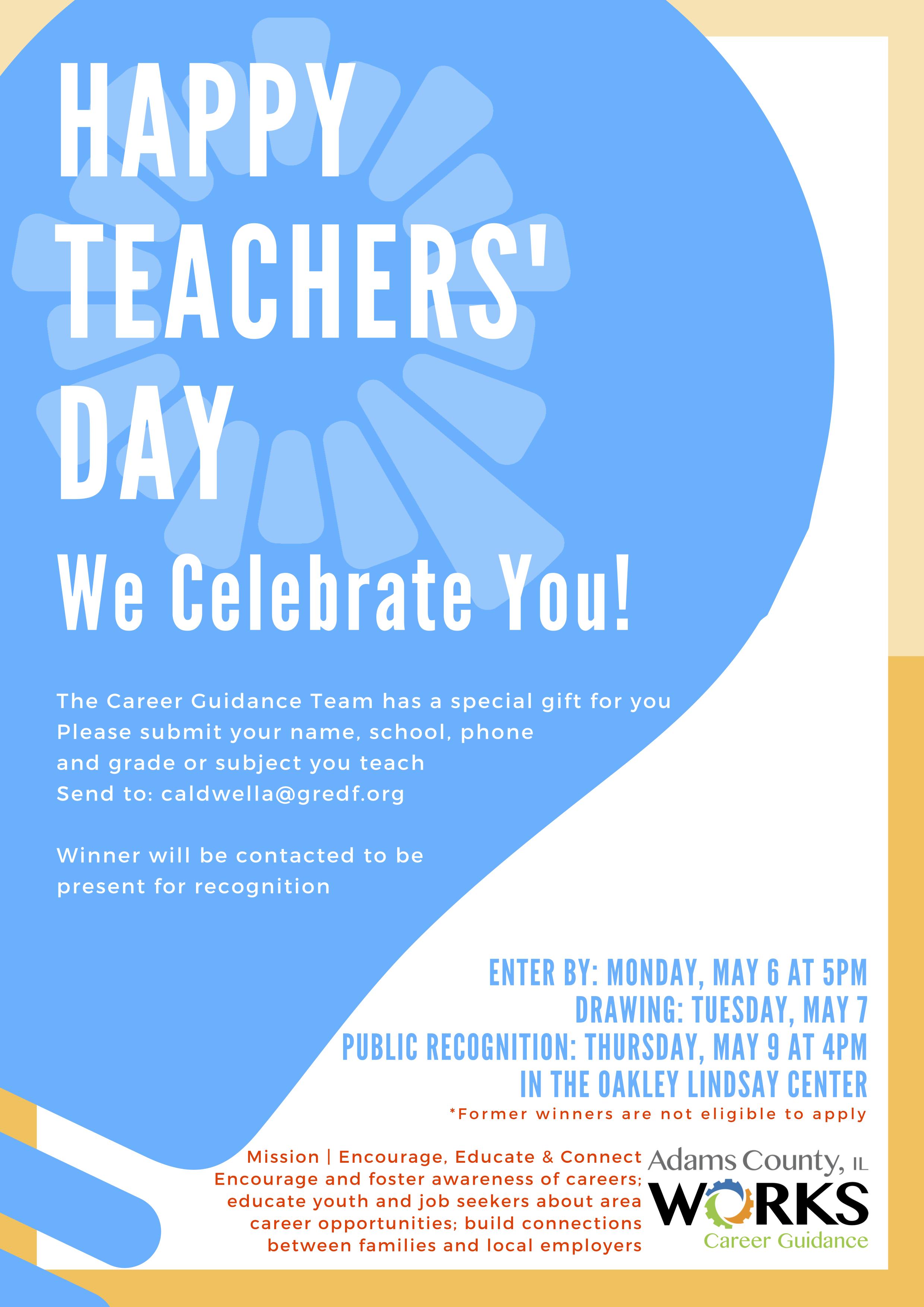 Career Guidance Team Celebrates Area Educators